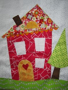 Wonky house  Appliqué. This Deonn's