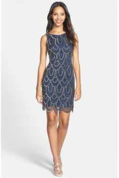 Alternate Image 4 - Pisarro Nights Embellished Mesh Sheath Dress (Regular & Petite)