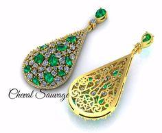 #emerald #clusterpendant #freestyle #Passion #3dprintedjewelry #CS  #CHEVALSAUVAGE #PARUR