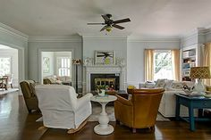 Stunning 1920s Remodel House Tour.  Walls:  Gray Owl, Benjamin Moore.  Lovely home.