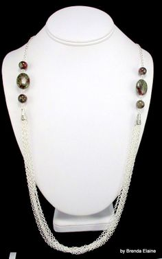 CLEARANCE50 OFFDragon Blood Jasper and Silver by byBrendaElaine, $21.00