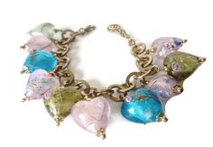 Vintage RJ Grazino Venetian Glass Heart by EraAntiquesandFinds