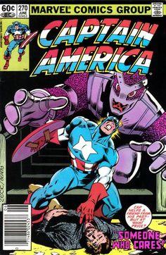 Cover for Captain America (Marvel 1968 series=) [Direct Edition] June 1982 Marvel Comics Superheroes, Marvel Comic Books, Comic Books Art, Comic Art, Marvel Art, Book Art, Captain America Comic Books, Marvel Captain America, Classic Comics