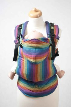 Ergonomic Carrier, Baby Size, broken-twill weave 60% cotton 40% bamboo - wrap conversion from PARADISO - LennyLamb.com