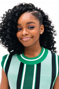 Black-ish Star Marsai Martin 14 Inks Deal With Universal Black Hairstyles With Weave, Black Girls Hairstyles, Weave Hairstyles, Straight Hairstyles, Natural Black Hairstyles, Hairstyles Pictures, American Hairstyles, Hairstyles 2018, Black Girl Braids