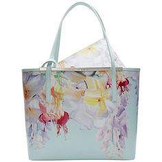 Buy Ted Baker Gillian Hanging Garden Leather Shopper Bag, Mint Online at…