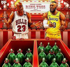 LeBron James and Michael Jordan LeBron James und Michael Jordan Funny Nba Memes, Funny Basketball Memes, Sport Basketball, Basketball Pictures, Basketball Legends, Sports Memes, Basketball Players, Curry Basketball, Basketball Videos