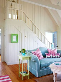 Cottage style is synonymous with easy living. Often associated with decorating a beach house or vacation home, today's cottage style fits easily right at home, too. Decor Styles, House Styles, Beach House Interior, Cottage Style, Coastal Living Rooms, Cottage Decor, Home Decor, House Interior, Cottage Style Interiors