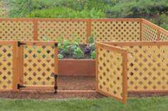 Pretty garden lattice fence