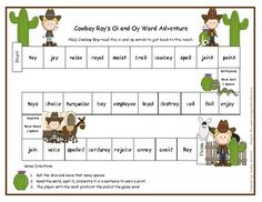Your students will have a great time helping Cowboy Roy read the oi and oy words to get back to his ranch.  Students roll the dice and read the wor...