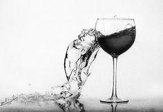 broken cup drawing by Belalkamel on DeviantArt Going Insane, Dope Art, Still Life, Wine Glass, Things To Think About, Drawings, Skulls, Internet, Deviantart