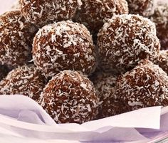 Rum Balls: Melt in the mouth balls of chocolate and coconut with a dash of rum. http://www.bakers-corner.com.au/recipes/truffles/rum-balls-2/