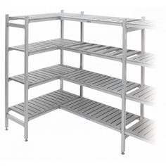 Aluminium Framed Plastic Shelving - Starter Bays - Deep available to buy online from CSI Products. Steel Storage Rack, Steel Racks, Storage Racks, Shelving Solutions, Shelving Systems, Plastic Shelving Units, Heavy Duty Shelving, Industrial Shelving, Storage Design