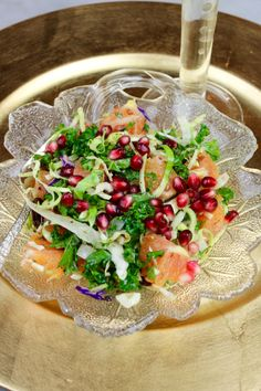 Cruciferous Crunch Salad with Pomegranate, Oranges & Toasted Walnuts - Entertaining is Easy