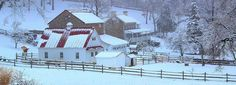 Chester County Farm In Winter Photograph