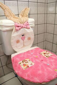 Jogo de banheiro de páscoa