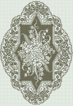 This Pin was discovered by Rut Filet Crochet Charts, Crochet Doily Patterns, Crochet Cross, Crochet Home, Crochet Motif, Crochet Doilies, Crochet Stitches, Embroidery Patterns, Crochet Curtains