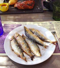 sardines at Kauai, beach restaurant at Gavà, Barcelona