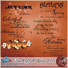 Smell of fall word art by Scrap'Angie