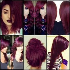 albums of Magenta Burgundy Hair Color Explore thousands of red purple hair - Red Hair Pelo Color Vino, Pelo Color Borgoña, Burgendy Hair Color, Color Red, Violet Red Hair Color, Red Purple Hair Color, Aubergine Hair Color, Black Cherry Hair Color, Dark Violet Hair