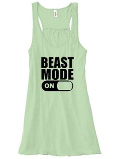 Very soft handmade workout tank top shirt for women. Perfect for crossift athletes, gym rats or anyone into fitness who goes into beast