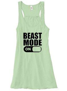 Beast Mode On Shirt - Crossfit Tank Top - Workout Shirt - Running Shirt