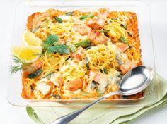 Spaghetti-Lachs-Auflauf