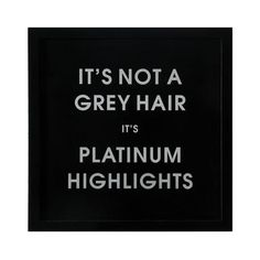 18-3/4 Square MDF Framed It's Not A Grey Hair? Wall Décor #wholesale #wall #decor