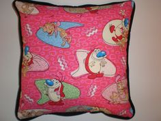 Ren & Stimpy Pillows by GoughGoodies on Etsy