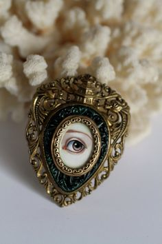 Victorian Mourning Brooch by Mab Graves