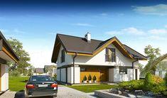 Projekt domu z poddaszem Wiliam II o pow. 139 m2 z dachem czterospadowym, z tarasem, sprawdź!