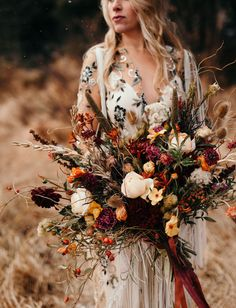 Fall boho bouquet