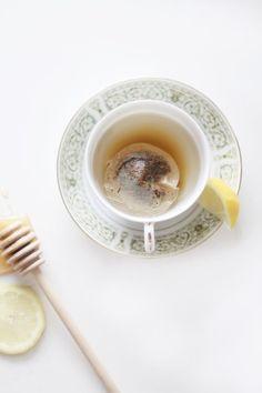 Lemon honey tea.