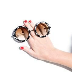 trust us when we say that every one of the ban.do girls tried these pared eyewear lookers on and every single one looked cooler than cool. yeah, that statement seems to defy the rules of facial geomet