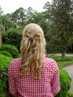 bow prom hair