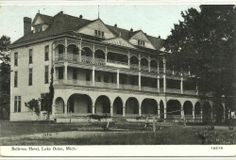 Lake Orion, Michigan - Old Bellevue Hotel on 1912 Pc Oakland County Michigan, Detroit Michigan, Lake Orion Michigan, Bellevue Hotel, Places Of Interest, Beautiful Places, Places To Visit, Architecture, Folklore