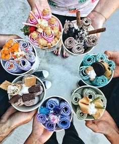 Image about food in ~Ice Cream🍦~ by 🖤Fleur⚘ on We Heart It Cute Desserts, Delicious Desserts, Dessert Recipes, Yummy Food, Kreative Desserts, Weird Food, Fun Cooking, Cooking Fish, Girl Cooking