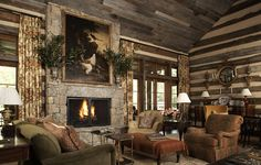 sophisticated cabin home designed by Suzanne Kasler, featured in Architectural Digest's June 2009 issue.