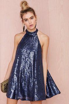 Niki Shift Sequin Dress