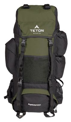 Save on Teton Sports Scout 3400 Internal Frame Backpack; High-Performance Backpack for Backpacking Hiking Camping; Sewn-in Rain Cover; Hunter Green and Camping Packing, Backpacking Tips, Camping And Hiking, Hiking Gear, Camping Gear, Camping Bags, Camping Stuff, Hiking Shoes, Hiking Packs