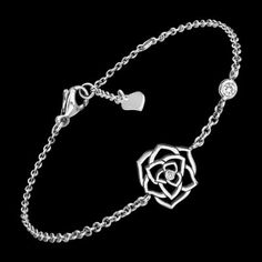 Discover Piaget Rose bracelet in white gold, diamond on Piaget US online jewelry store - Piaget luxury bracelet White Gold Diamond Bracelet, White Gold Diamonds, Luxury Jewelry, Jewelry Stores, Bracelets, Silver, Style, White Gold, Jewelery