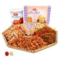 Wholesome Rakhi Thali Hamper - Buy Fresh Wholesome Rakhi Thali Hamper Online at Lowest Price | Giftalove.com