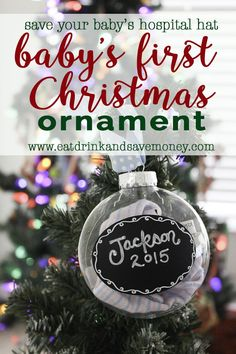 ff8409dac Easy DIY Ornaments that Kids Can Make. Baby First Christmas ...