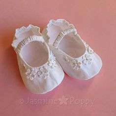 Baby booties baby shoes baby christening booties baby