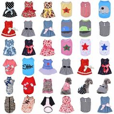 please call pet roses for amounts and sizesPet Puppy Small Dog Cat Pet Clothes Dress Vest T Shirt Summer Apparel Clothes Vest Princess Skirt Bow Tutu Dress. Size Back Neck Bust. Size Back Neck Bust.   eBay!