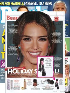 Avon's Ultra Color Lipstick featured in @People magazine magazine shown on Jessica Alba!  Shop now at lmarson.avonrepresentative.com