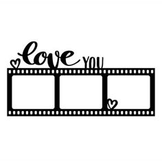 Silhouette Design Store - View Design love you photo frame Silhouette Cameo, Silhouette Design, Photo Frame Design, Photo Collage Template, Polaroid Frame, Overlays Picsart, Frame Template, Love Photos, Page Layout
