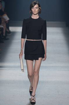 Clean clolor, clean cut, panel skirt. this  look hits all the marks of S/S14. Narciso Rodriguez Spring 2014 Ready-to-Wear Collection Slideshow on Style.com