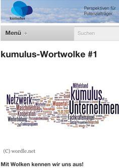 Mit Wolken kennen wir uns aus. #1 in der neuen Reihe der Wortwolke vom kumulus-Blog. Wordle half uns bei der Darstellung der häufigsten Worte.