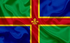Download wallpapers County Lincolnshire Flag, England, flags of English counties, Flag of Lincolnshire, British County Flags, silk flag, Lincolnshire